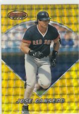 JOSE CANSECO BOWMAN'S BEST ATOMIC REFRACTOR GOLD RED SOX RANGERS #57 1996 96