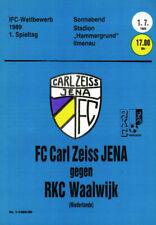 IFC 01.07.1989 FC Carl Zeiss Jena - RKC Waalwijk, Edition A, InterToto