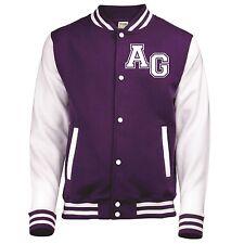 AWDis Kids PERSONALISED Varsity Jacket College Custom Printed Children American