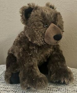 """BUILD A BEAR BROWN GRIZZLY BEAR WITH BLACK NOSE, EARS & PAWS-BAB 12"""" PLUSH-EUC!"""