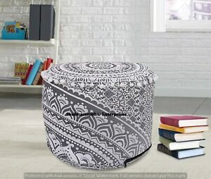 Mandala Cotton Footstools Indian Poufs Decor Indian Tapestry Moroccan Decor 22'