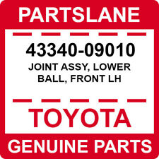 43340-09010 Toyota OEM Genuine JOINT ASSY, LOWER BALL, FRONT LH