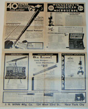 VINTAGE 1930s TELESCOPE/MICROSCOPE/BINOCULAR ADVERTISING POSTER! 17x22