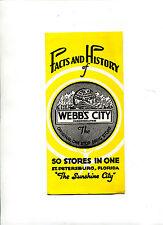 Vintage Travel Brochure WEBB'S DRUG STORE Facts & History department list