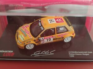 COCHE 1/43, ALTAYA, MODELO CITROEN SAXO KIT CAR RALLY ALSACE- VOSGES 1999, LOEB.