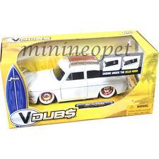 JADA V DUBS 91216 1965 65 VW VOLKSWAGEN 1600 TL FASTBACK 1/24 ORG WHEELS WHITE
