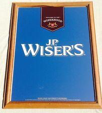 """New"" J.P. Wiser's Whisky Mirror Frame Sign Bar WisherHood"