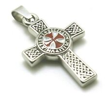 Classic stainless steel Pendant for men red cross Templars massons