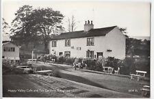 Lancashire; Happy Valley Cafe & Tea Gardens, Roughlee RP PPC, Lilywhite, Unused
