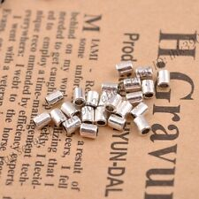 100Pcs Tibetan Silver Tube Charm Spacer Beads Jewelry Findings