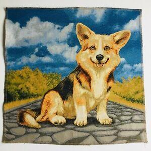 Tápiz Tapicería Panel Motivo Perro Artesanal Tela Treue Freund Aprox. 48x48 CM