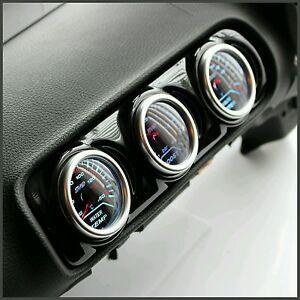 Seat Leon 8L Centre Air Vent Pod Gauge Holder 3 Hole Audi A3 8L Gloss Black ABS