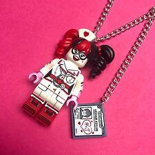 Batman Nurse Harley Quinn Necklace...Handmade using LEGO® parts COMIC GEEK