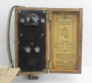 Wooden Fuse Tester Box Pyrotechnic Ignition 5Q/1142 BEM RAF Vintage Aircraft