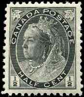 Canada #74 mint VF OG NH 1898 Queen Victoria 1/2c black Numeral CV$60.00