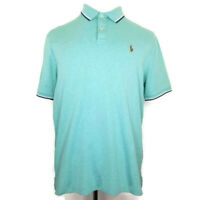 Polo Ralph Lauren Classic Fit Mens Size Large Mint Striped S/S Golf Polo Shirt