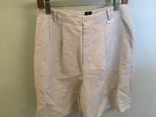 Callaway Golf Apparel Nordstrom Women's Shorts Pleated  Tan New 8 Ladies LINEN