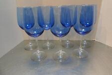 5702b1553e7 Blue Water Goblets Glasses Clear Stem 9-1 4