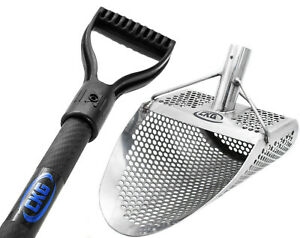 CKG Sand Scoop Metal Detecting Scoops Detector Shovel Carbon Handle Long Pole