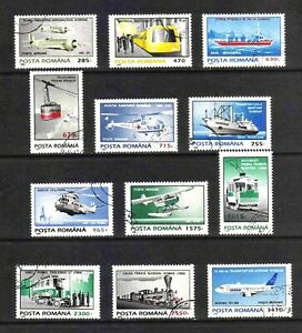 Romania 1995 Transport complete set of 12 values (SG 5712-5723) used