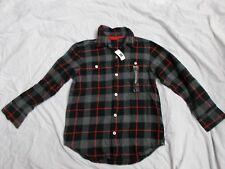 NEW WITH TAGS BOY'S GAP KIDS LONG SLEEVE BUTTON DOWN PLAID SHIRT SIZE MEDIUM 8