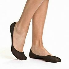 WOMENS BONDS NO SHOW COTTON BLACK FOOTLET STOCKINGS SOCKS FOOTLETS SIZE 4-7 8-11