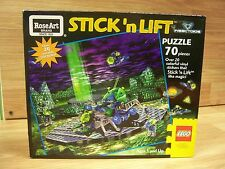 Lego RoseArt Stick 'n Lift Puzzle w/ Reusable Vinyl Stickers Complete RARE!