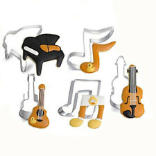 Guitar Piano Stainless Steel Cookie Biscuit Cutter Mould Fondant Baking Pastry