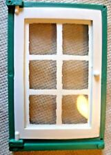 Vintage Dolls House DIY - Caroline's Home Single Panelled Glazed Green Window #2