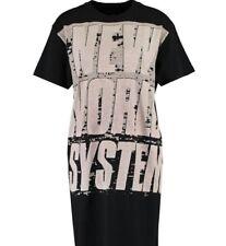 BNWT-MARC BY MARC JACOBS nouveau système Mondial T-Shirt Noir Robe-Taille S