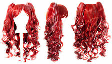 20'' Lolita Wig + 2 Pig Tails Snow White and Scarlet Red Gothic Sweet