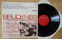 H954 HAITINK BRUCKNER SYMPHONY No. 5 / TE DEUM 2 x LP PHILIPS STEREO