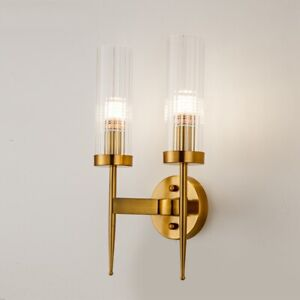 Modern Gold Wall Lamp Led Glass Wall Sconce Light Fixtures Living Room Bedroom