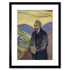Edvard Munch Friederich Nietzsche Painting Framed Art Print 9x7 Inch
