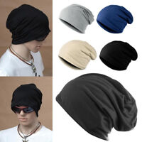 Men Women Knit Beanie Cap Baggy Oversize Winter Hat Ski Slouchy Chic Cap Hip-hop