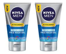 2 x Nivea Men Active Energy Fresh Look Face Wash Gel 100mL