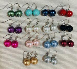 Classic Large Faux Pearl Drop Earrings - Pierced Hook or Clip On