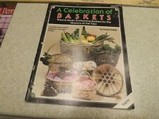 Basket Weaving How To Vintage Instruction Pattern Book Booklet 1988 Seasons