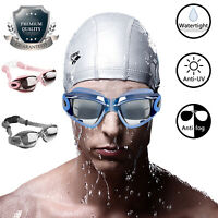 Swimming Goggles Anti UV Fog Protection Electric Plating Glasses Eye Mask Cover