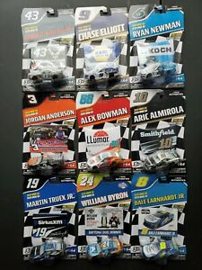 2020 Nascar Authentics Wave 5 Complete Set Of 9 Cars 1/64 Diecast