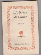 Stendhal - L'Abbesse de Castro - série coquelicot Gründ  1947 - L.Ferri-Decler