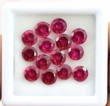 18.50 Ct 14 Pieces Certified Natural Mozambique Red Ruby Gemstone Lot Sale