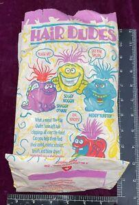 VERY RARE 1994 CARL'S JR HAIR DUDES PREMIUM TOY HAPPY STAR KID'S MEAL BAG