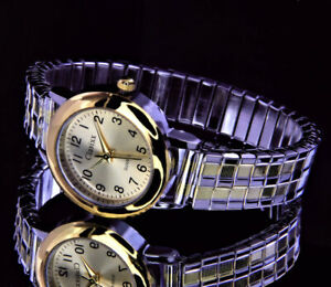 Clasixx Damen Armband Frauen Uhr mit Edelstahl Zugband Gold Silber Farben
