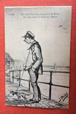 CPA. 1930. Illustrateur OCHS. Liège. Un Marchand de Chiens sur la Batte.