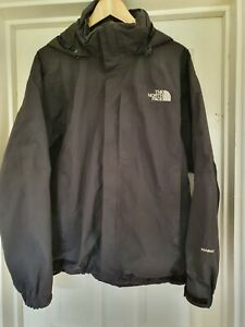 North Face Hyvent black jacket with hood, size M 44 in, waterproof & windproof