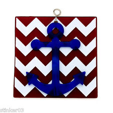 Fused Anchor Red Chevron Switchables Stained Glass  SF558