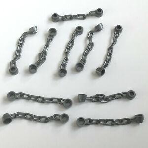 10 Lego Ketten 5L flat silber NEU 92338 Figur Zubehör