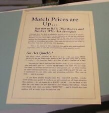 1948 REO Motor Car Company Sample Matchbook Cover and Advertising Order Sheet