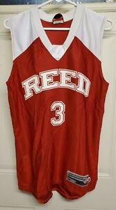 Rawlings Reed Academy Men Basketball Jersey Red Sleeveless Athleticwear Tank Top
